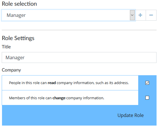 Setting up User Roles | Account Settings | User Guide